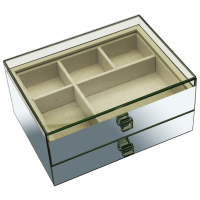 Large Glass Smykker Box