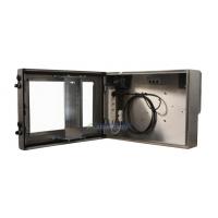 vanntett skjerm kabinett visning av enheten med døren åpen