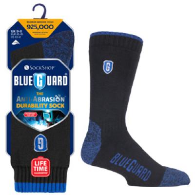 Blueguardowe skarpety na buty robocze w kolorze czarnym i niebieskim, w oryginalnym opakowaniu