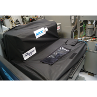 The 'keep-it-covered' swarf bin cover can be made to fit any chip bin and conveyor.