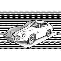 Tymczasowy garaż na samochody luksusowe i długotrwałe przechowywanie.