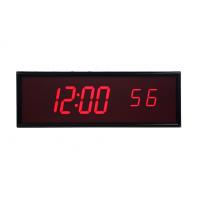 BRG sześć cyfr ntp zsynchronizowany zegar cyfrowy widok z przodu