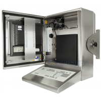 Kompaktowa wodoodporna obudowa z otwartymi drzwiami pokazano PC