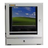 Komputer widok z przodu szafy