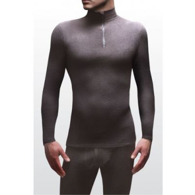 A parte de baixo térmica masculina em microfleece é macia e quente.
