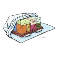 Pacotes dessecantes reutilizáveis sendo usados para proteger objetos de valor da umidade.