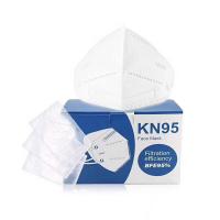 Máscara facial KN95 com eficiência de filtragem de 95%.