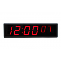 vista de frente de relógio NTP 6 dígitos