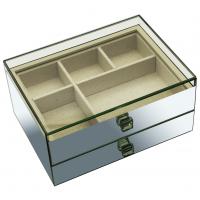 Grande caixa de jóia de vidro