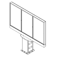 sinalização digital ao ar livre de tela múltipla de Armagard