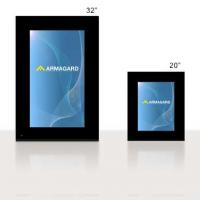 cartaz digital fabricado pela Armagard