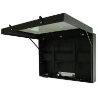 plasma vista gabinete da esquerda com porta aberta
