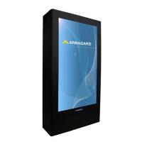 Outdoor placa do menu digital da esquerda vista
