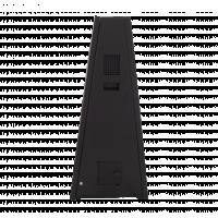 Vista lateral de sinalização digital a pilhas.