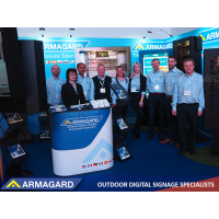 A equipe da Armagard no ISE Amsterdam.
