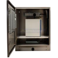 gabinete touchscreen impermeável com exibição porta aberta computador