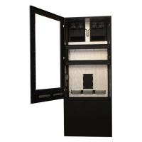 Anti-reflexo sinalização digital totem com porta aberta