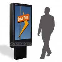 Sunlight readable totem ideal digital para drive thru de