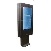 QSR sinalização digital ao ar livre vista à direita