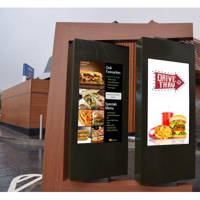 Drive digital através de placas de menu no local