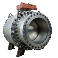 Válvula de esfera de aço inoxidável Trunnion