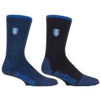 синие защитные носки в двух разных цветах