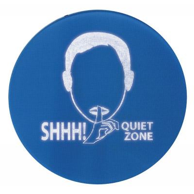 Знак контроля шума в больнице идеально подходит для отделений интенсивной терапии и детских палат.