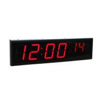 Сигнальные часы с шестью цифрами по сравнению с видом сбоку через ethernet