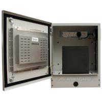 компактный сенсорный корпус открыт, показывающий компьютер и сенсорный экран