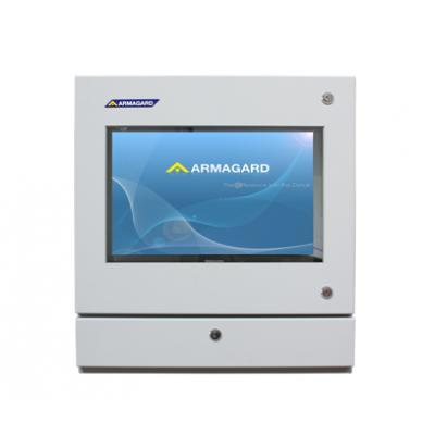 Пыленепроницаемый корпуса компьютера спереди с экрана