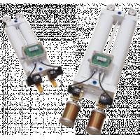 Maxi Air-torkare som visar kolumner, mätare och ljuddämpare