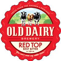 red top av gamla mejeriet bryggeri, brittiskt bästa bitter distributör
