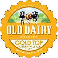 guld topp av gamla mejeriet bryggeri, brittisk pale ale distributör