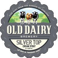 silver top: silver top av gamla mejeriet bryggeri, brittisk grädde stout distributör