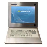 Vattentät industriell dator arbetsstation med integrerat membran tangentbord