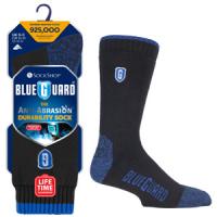 Siyah ve mavi ve orijinal ambalajında Blueguard iş önyükleme çorapları