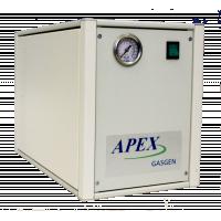 Anahtar ve basınç göstergeli ön paneli gösteren Zero Air Generator